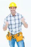 Successful technician celebrating victory Royalty Free Stock Photo