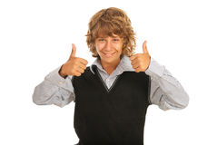 Successful teen boy Royalty Free Stock Photography