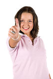 Successful teenager with thumb up Stock Image