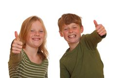 Successful teens Royalty Free Stock Images