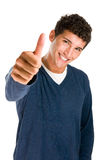 Successful thumb up Stock Photos