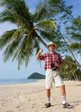 Successful tourist Stock Photo