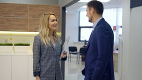 Successful transaction of business partners is fixed by hand.  stock video footage
