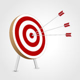 Successful triple target hit Royalty Free Stock Images