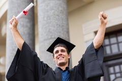 Successful university graduate. Successful male university graduate after graduation Royalty Free Stock Photography