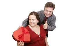 Successful Valentine Gift Royalty Free Stock Photo