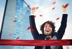 Successful victorious businessman Royalty Free Stock Photography