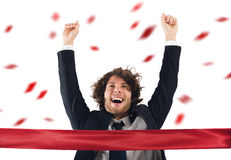 Successful victorious businessman Stock Image