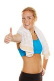 Successful weight loss in the gym. Successful weight loss through sport and endurance training in the gym stock image