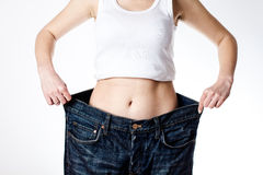 Successful Weight Loss Royalty Free Stock Photo