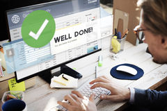 Successful Well Done Accomplishment Achievement Excellence Conce Stock Image