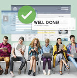 Successful Well Done Accomplishment Achievement Excellence Conce. Pt Royalty Free Stock Photography