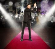 Successful winner businessman Stock Photos
