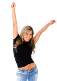 Successful woman with arms up Royalty Free Stock Photos