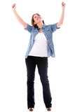 Successful woman with arms up Royalty Free Stock Photography