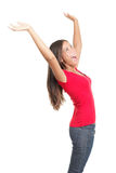 Successful woman celebrating success royalty free stock images