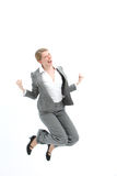 Successful woman jumping for joy Royalty Free Stock Image