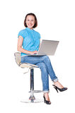 Successful woman with the laptop Royalty Free Stock Image