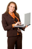 Successful woman on a laptop Royalty Free Stock Photography