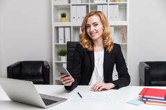Successful woman manager stock photos
