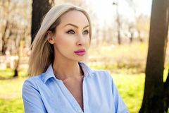 Successful woman, outdoors portrait Stock Image