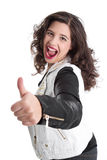 Successful woman with thumb up Royalty Free Stock Image