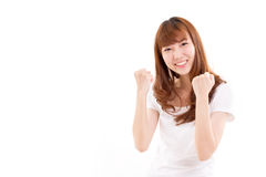 Successful woman. On white background stock image