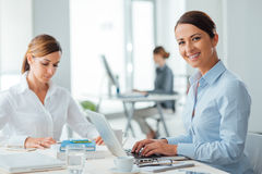 Successful women entrepreneurs at work Stock Image