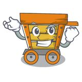 Successful wooden trolley character cartoon. Vector illustration stock illustration