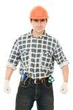 Successful worker in a helmet Stock Photos