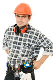 Successful worker in a helmet Royalty Free Stock Images