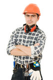 Successful Worker In A Helmet Royalty Free Stock Photos
