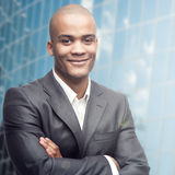 Successful young african businessman Stock Image