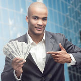 Successful young african businessman Stock Photography