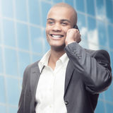 Successful young african businessman Stock Images