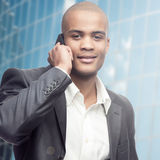 Successful young african businessman Royalty Free Stock Photography
