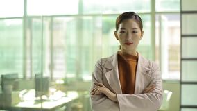 Successful young asian businesswoman stock video
