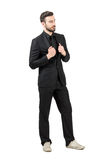 Successful young bearded businessman wearing sneakers Stock Photography