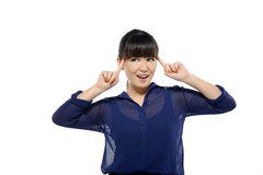 Successful young business asian woman smiling Royalty Free Stock Photo