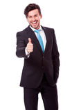 Successful young business man smiling isolated Royalty Free Stock Images