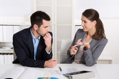 Successful young business people working in a team. Stock Photo