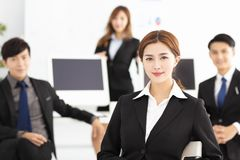 successful young business team in office Stock Images
