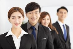 Successful young business team in office Royalty Free Stock Photo