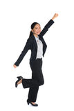 Successful young business woman happy Stock Photos