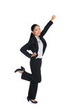 Successful young business woman happy Stock Images