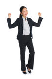Successful young business woman happy Royalty Free Stock Photos