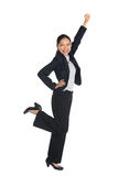 Successful young business woman happy Royalty Free Stock Images