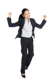 Successful young business woman happy Stock Image