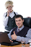 Successful young businessman Stock Image