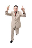 Successful Young businessman cheering Royalty Free Stock Image